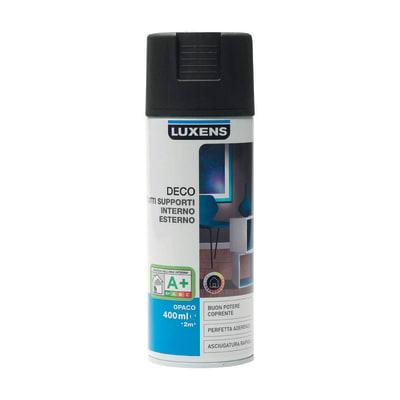 Smalto spray LUXENS Deco nero opaco 0.0075 L