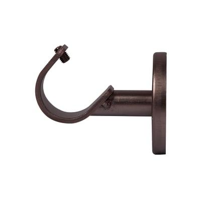 Supporto singolo aperto Ø25mm Loft in metallo bronzo satinato4.7 cm