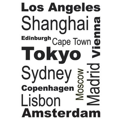Sticker Cities 47.5x70 cm
