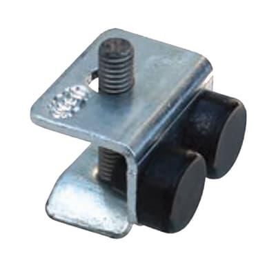 Arresto di fine corsa con base da fissare in acciaio L 2.8 x H 2 cm