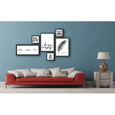 Stampa incorniciata Piuma 50x70 cm