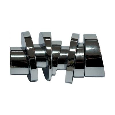 Finale per bastone Ø20mm Nilo cilindro in metallo lucido INSPIRE