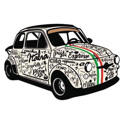 Sticker Italian Style 45x65 cm