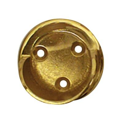 Supporto rosetta Ø28mm Agra in metallo ottone lucido 3cm