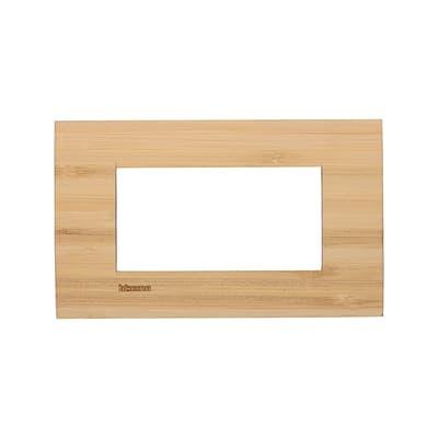Placca BTICINO Living light 4 moduli bambù