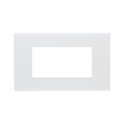 Placca BTICINO Living light 4 moduli bianco