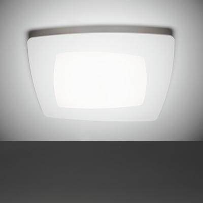 Plafoniera Debra bianco, in metallo, 30x30 cm, LED integrato 12W IP20 SFORZIN