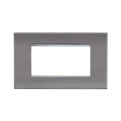 Placca BTICINO Living light 4 moduli nichel