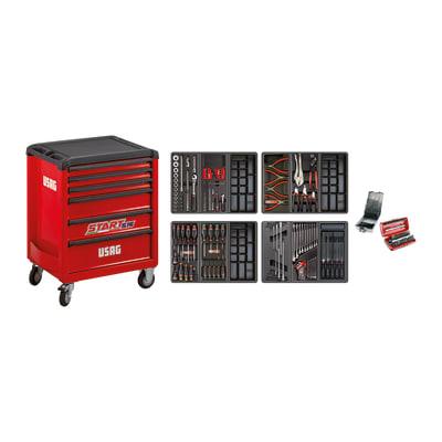 Carrello per officina USAG Star 516 in acciaio 6 cassetti