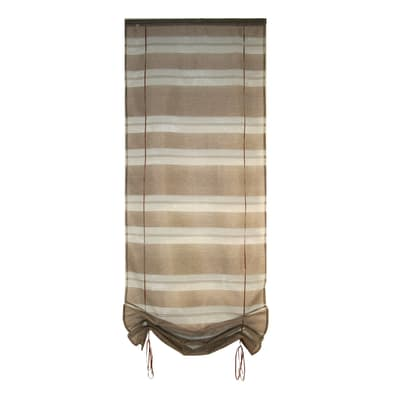 Tendina vetro Belladone mattone passanti nascosti 45x200 cm