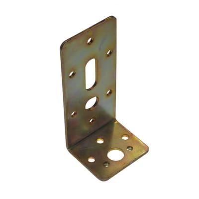 Piastra angolare standers acciaio zincato L 110 x Sp 3 x H 50 mm