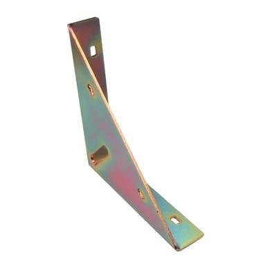 Piastra angolare standers in acciaio zincato L 150 x Sp 2.5 x H 30 mm