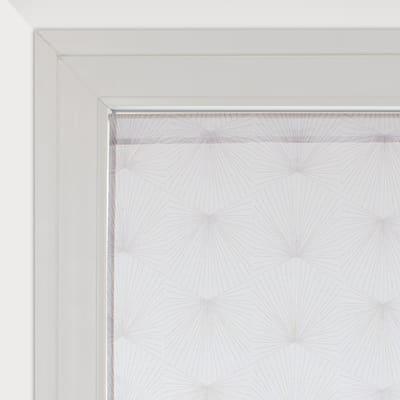Tendina vetro Kita bianco e grigio tunnel 60x120 cm
