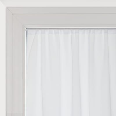 Tendina vetro Leo bianco tunnel 140x120 cm
