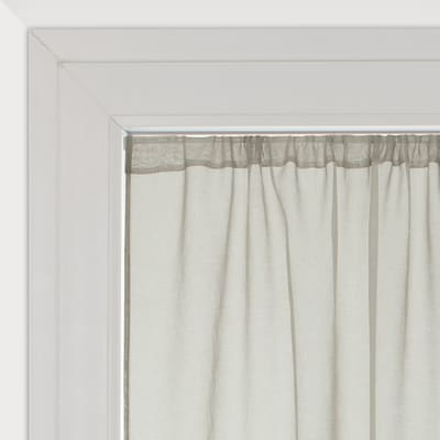 Tendina vetro Leo grigio pepe tunnel 140 x 120 cm