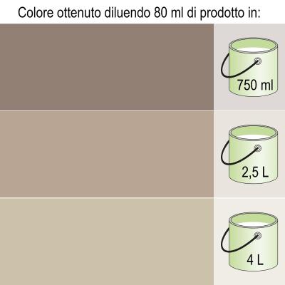 Colorante liquido BRAVO 40 ml marrone bruno