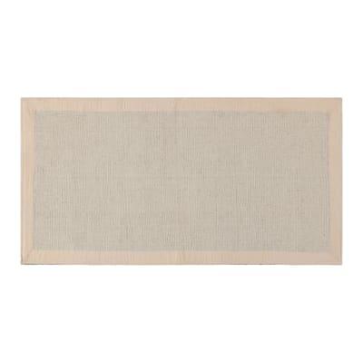 Tappeto Nevra in cotone, avorio, 50x110 cm