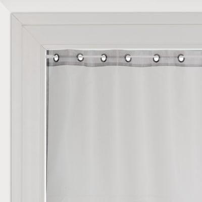 Tendina vetro Metal argento occhielli 80 x 160 cm