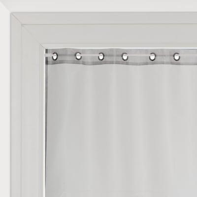 Tendina vetro Metal argento occhielli 90x210 cm
