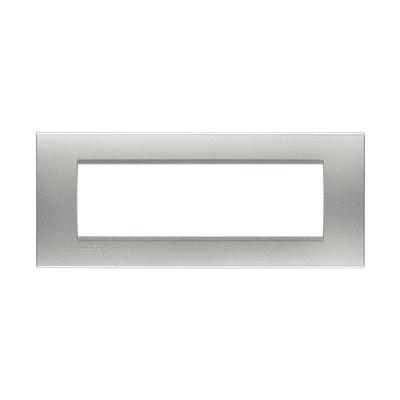 Placca BTICINO Living light 7 moduli tech