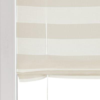 Tendina a vetro regolabile Molly bianco e beige tunnel 58x175 cm