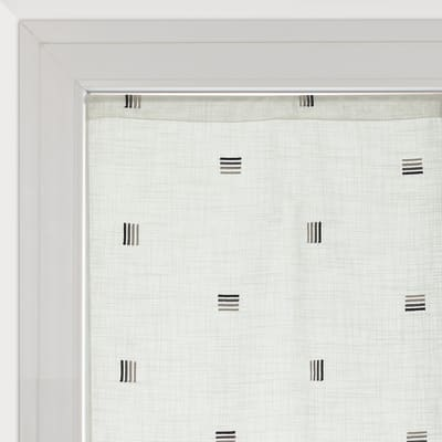 Tendina vetro Nerea bianco tunnel 60 x 240 cm
