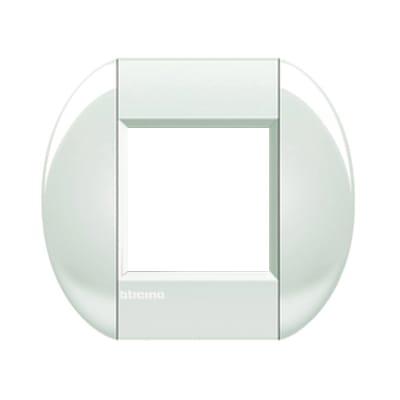 Placca BTICINO Tonda 2 moduli bianco