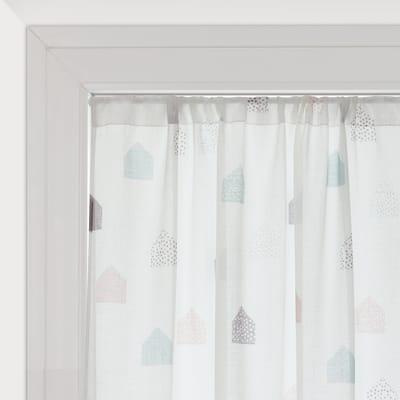 Tendina vetro Nina bianco tunnel 100 x 150 cm