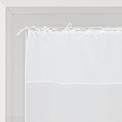 Tendina vetro Nouettes bianco lacci 60x120 cm