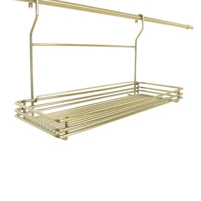 Barra sottopensile Mensola finitura ottonata in metallo 45 x 15 cm