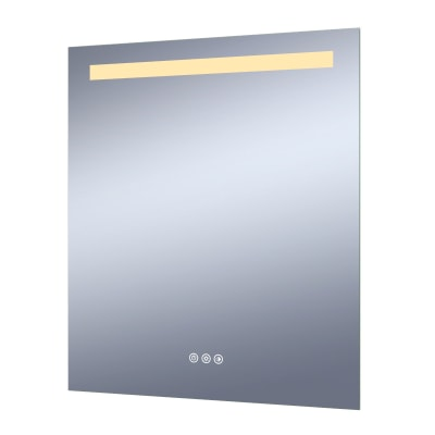Specchio con illuminazione integrata bagno rettangolare Remix L 60 x H 70 cm SENSEA