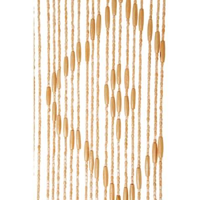 Tenda per porta Legno naturale 100x200 cm