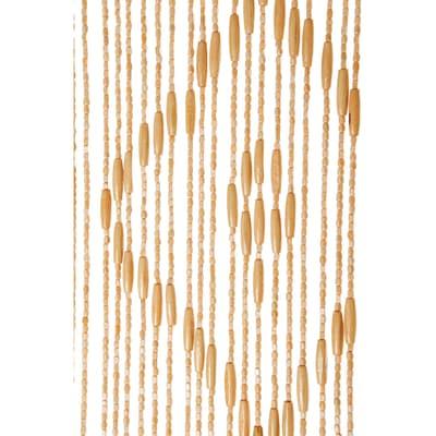 Tenda per porta Legno naturale 120x240 cm