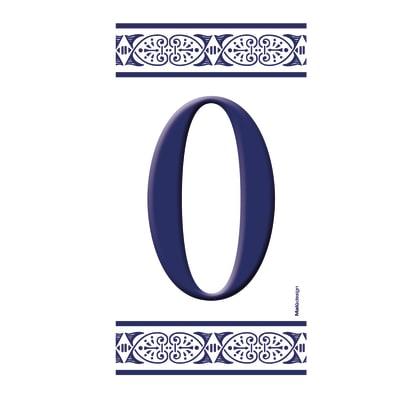 Numero Greca 0 , 7.5 x 15 cm
