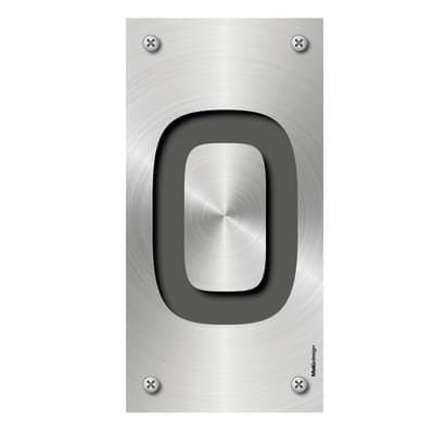 Numero Metal 0 , 7.5 x 15 cm