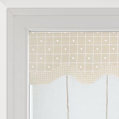 Tendina vetro Serena ecru tunnel 60 x 150 cm