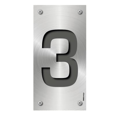 Numero Metal 3 , 7.5 x 15 cm