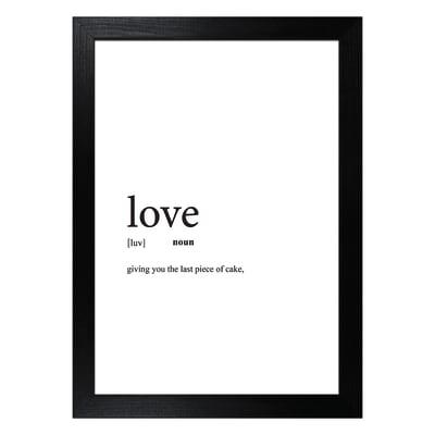 Stampa incorniciata Love 13x18 cm