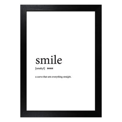 Stampa incorniciata Smile 13x18 cm