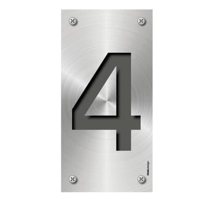 Numero Metal 4 , 7.5 x 15 cm