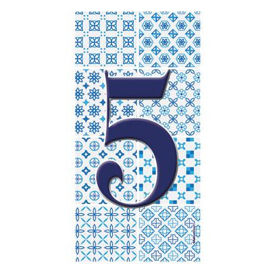 Numero Arabesque 5 , 7.5 x 15 cm