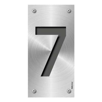 Numero Metal 7 , 7.5 x 15 cm