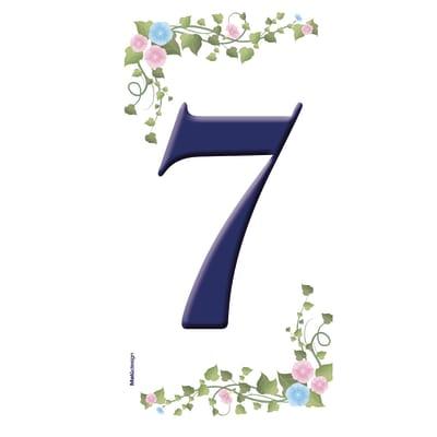 Numero Edera 7 , 7.5 x 15 cm
