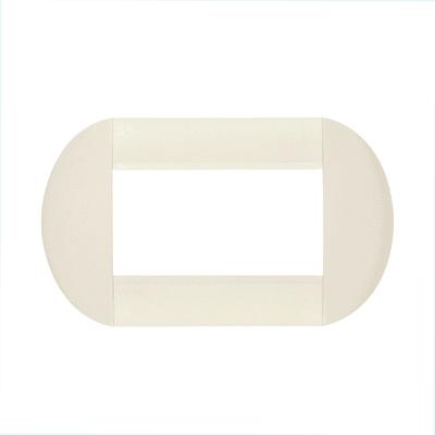 Placca BTICINO Tonda 4 moduli bianca