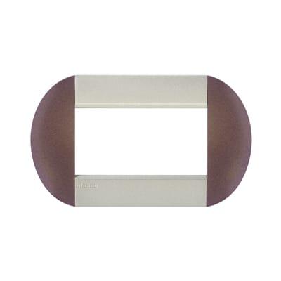 Placca BTICINO Tonda 4 moduli bronze