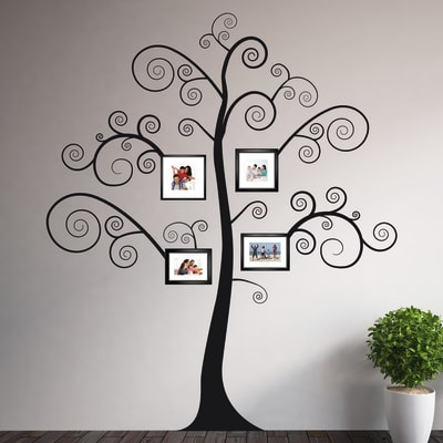 Sticker Black tree 14x73 cm