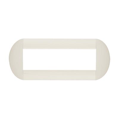 Placca BTICINO Tonda 7 moduli bianca