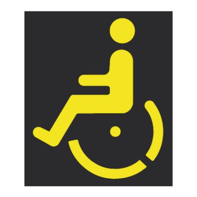 Cartello segnaletico handicap polipropilene 7 x 10 cm