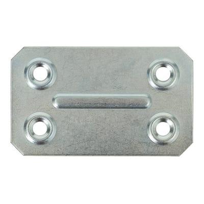 Piastra dritta in acciaio zincato L 67 x Sp 1 x H 40 mm  4 pezzi