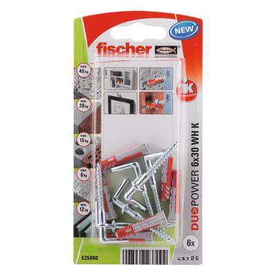 Tassello FISCHER Duopower 6 L 30 mm x Ø 6 mm 6 pezzi